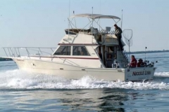 """Fish with the state of the art Equipment. That is right! We have the newest of Big Jons down riggers called """" The Brute"""" Not only that! This 41ft is loaded with some of the finest Furuno Electronics! Come check it out!"""