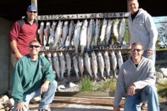 Kenosha Wisconsin Charter Fishing Photo Album We hope you enjoy our Charter Fishing Photo Album and we invite you to return often to see the new images that we add throughout the season! Even better - contact us and let's go fishing! CLICK on any image below to enlarge the photo! Corporate Charters for Tout and Salmon Southern WI or Norhtern Illnois is our Specialty These 40ft Yachts are designed with fishing charter clients in mind! June 4th 2009 Banner afternoon. Corporation charters 2 boats with Albatross and catches 53 Salmon and Trout. Great Job and a lot of fun! Call us today to book your corporate outing today! 262-945-8193